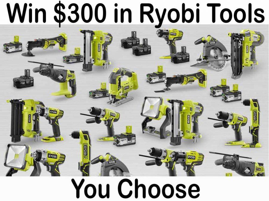 Win $300 in Ryobi Power Tools!