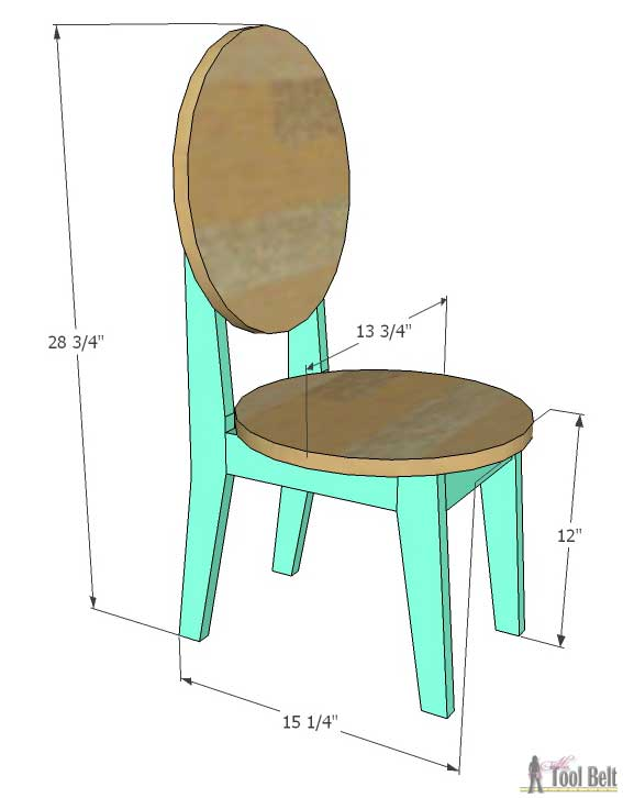 Circle back kids chair plans her tool belt