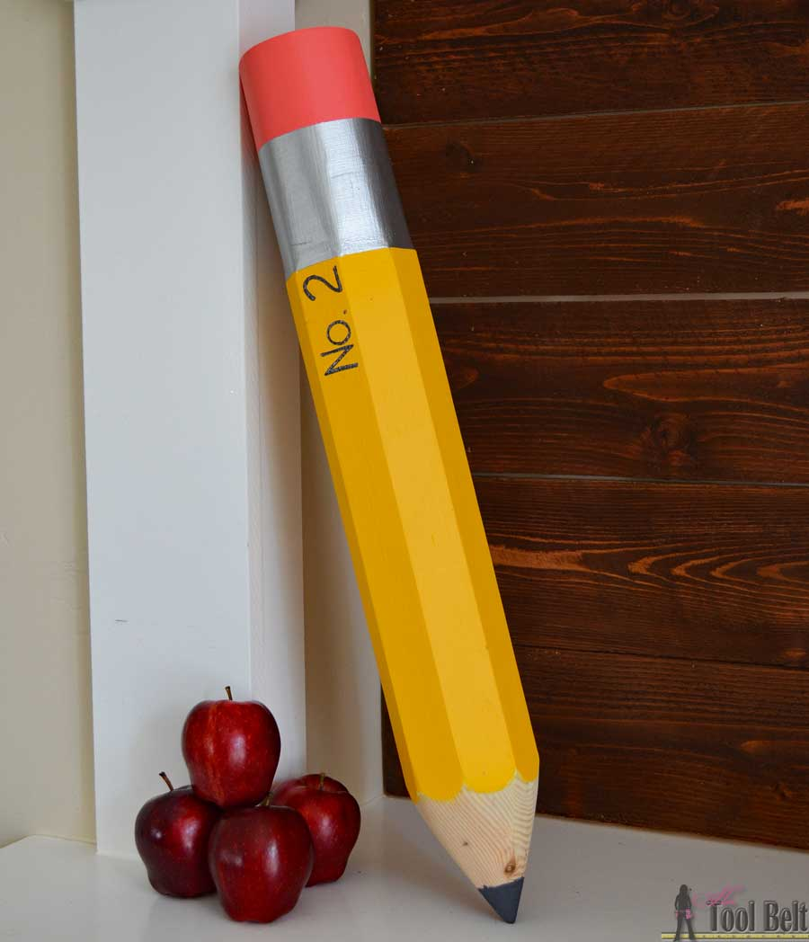 Giant Pencil Decoration Her Tool Belt