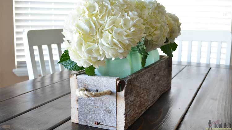Easy Reclaimed Wood Box Centerpiece Her Tool Belt