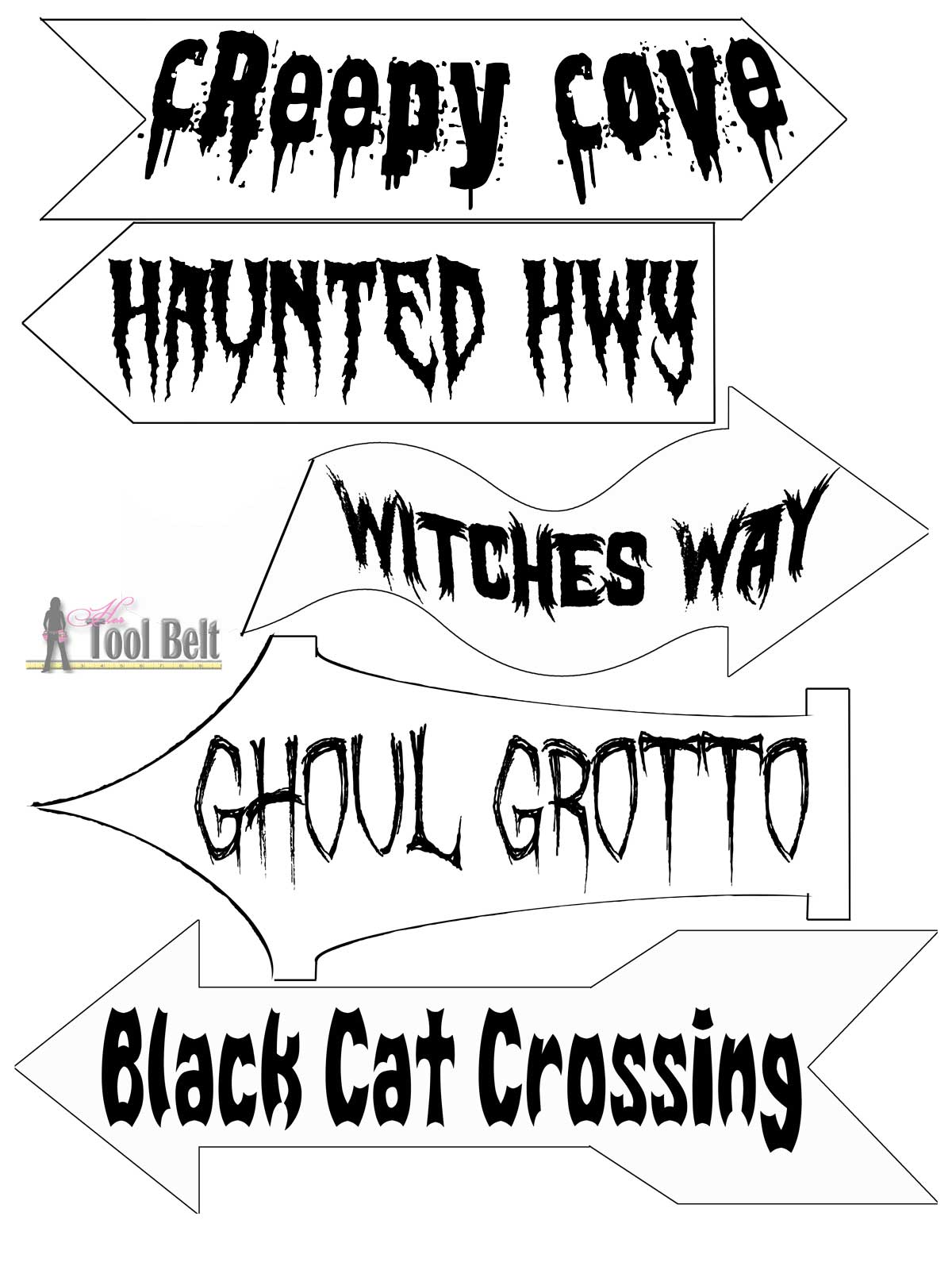 DIY Halloween Direction Sign - The Idea Room