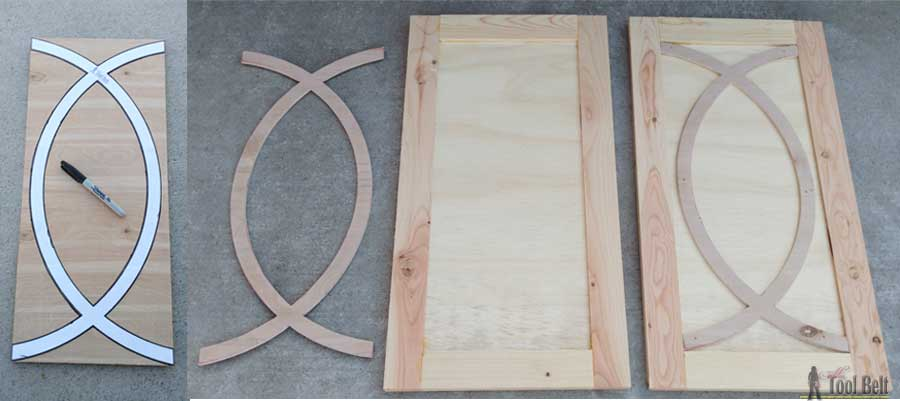 Diy Buffet Sideboard With Circle Trim Doors Her Tool Belt