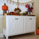 DIY Buffet-Sideboard with Circle Trim Doors