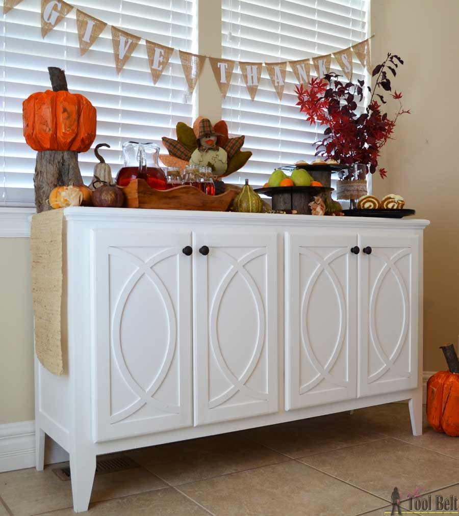 Diy Dining Room Storage Ideas: DIY Buffet-Sideboard With Circle Trim Doors