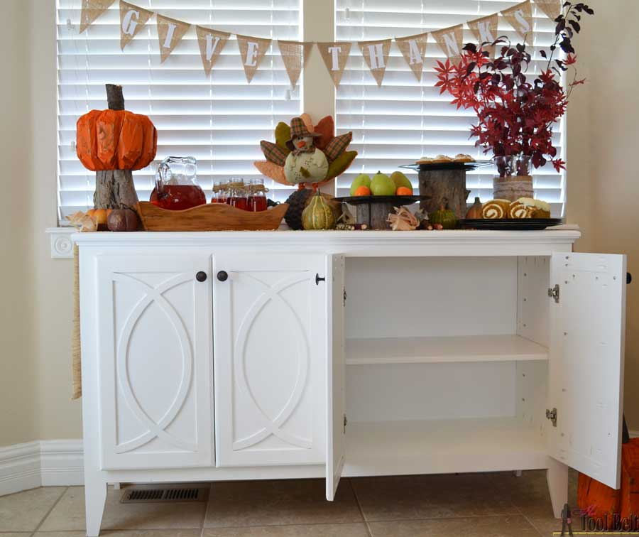 Diy Kitchen Cabinet Building Plans: DIY Buffet-Sideboard With Circle Trim Doors