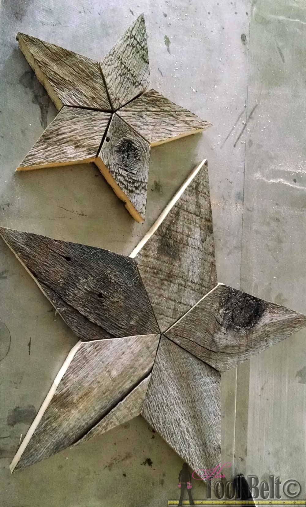 Rustic patchwork wood stars her tool belt for Rustic simplicity
