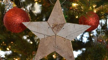 Rustic Patchwork Wood Stars