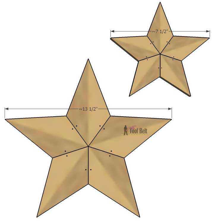 Easily Add Natural Elements Into Your Christmas Decor With These Simple Rustic Patchwork Wooden Stars