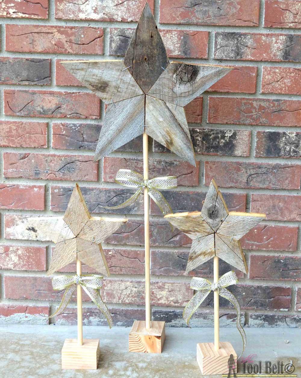 Rustic Patchwork Wood Stars - Her Tool Belt
