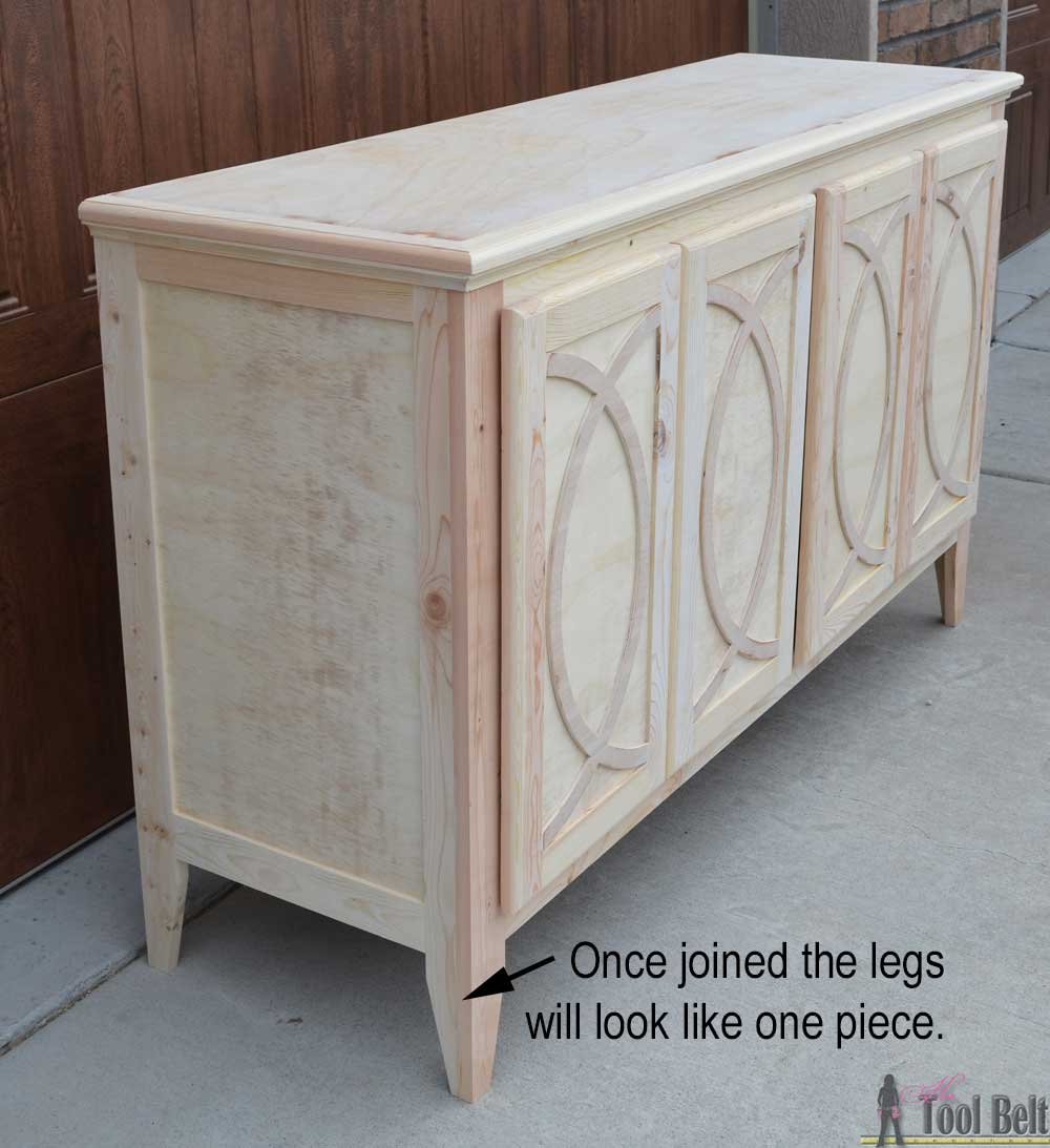 Diy Buffet Or Sideboard With Circle Trim Doors This Cabinet Boasts Plenty Of Dining