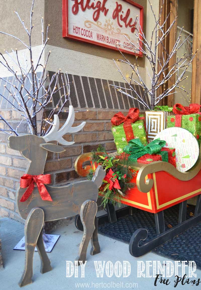 Free Wooden Christmas Tree Patterns.Diy Wood Reindeer Her Tool Belt