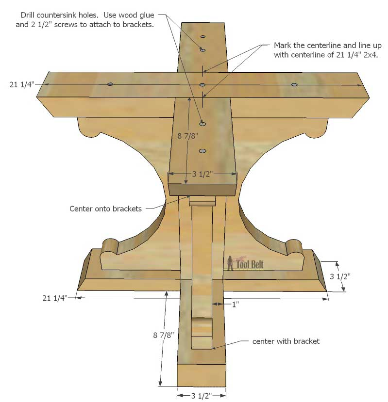 round farmhouse table plans Farmhouse Style Round Pedestal Table   Her Tool Belt round farmhouse table plans