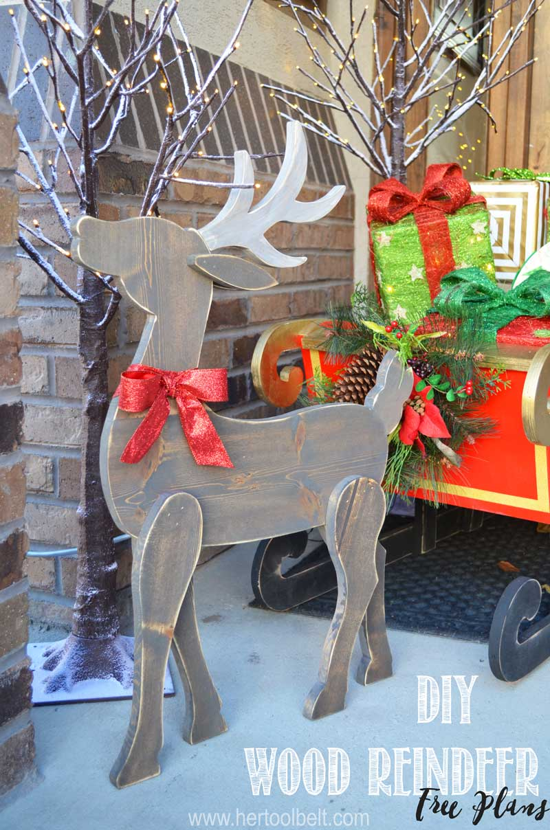 Diy Wood Reindeer Her Tool Belt