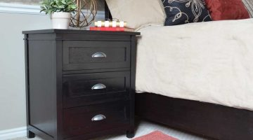 DIY Craftsman 3 Drawer Nightstand