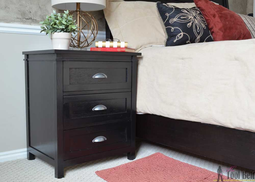 DIY Craftsman 3 Drawer Nightstand Her Tool Belt