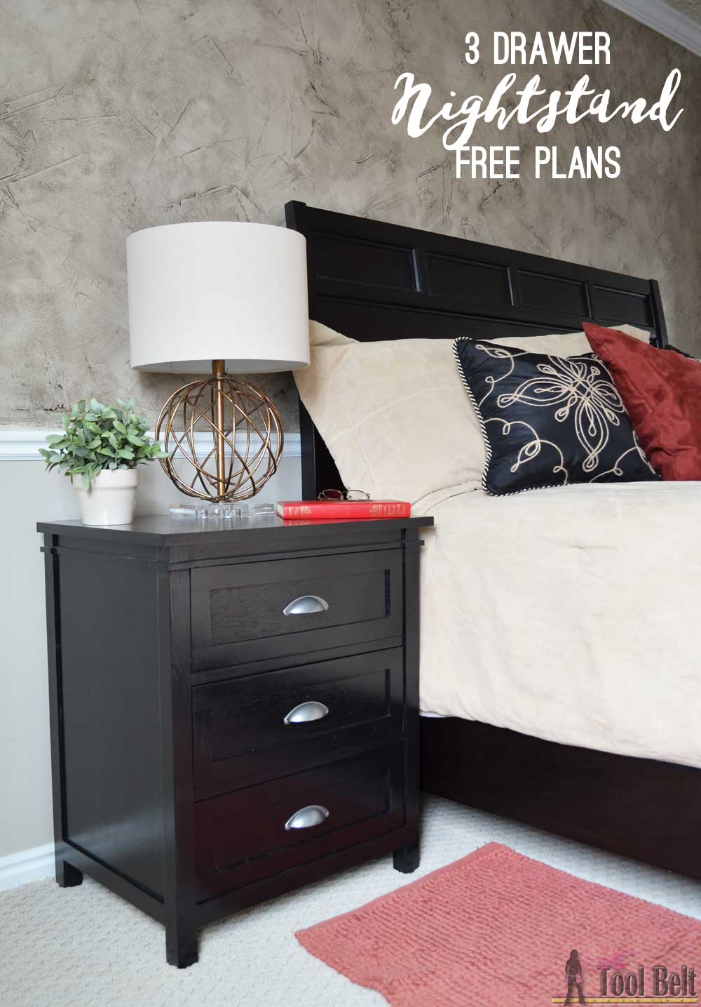 Free Plans For A DIY Craftsman Style 3 Drawer Nightstand Perfect For Any  Bedroom. This