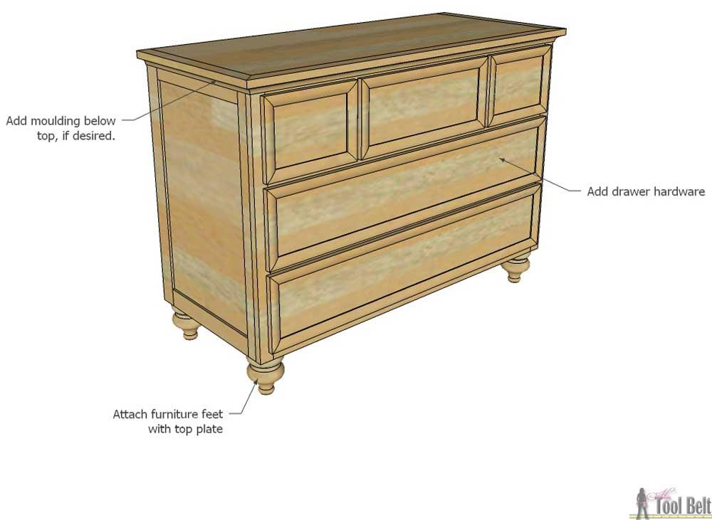 5 drawer dresser changing table her tool belt. Black Bedroom Furniture Sets. Home Design Ideas