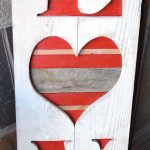 LOVE Valentine's Wood Sign