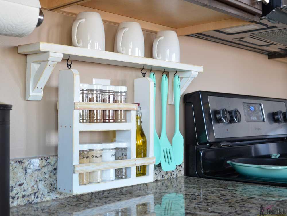 Kitchen Backsplash Shelves kitchen backsplash shelf and organizer - her tool belt