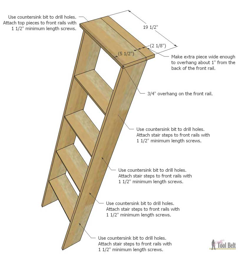 How To Make A Bunk Bed Ladder