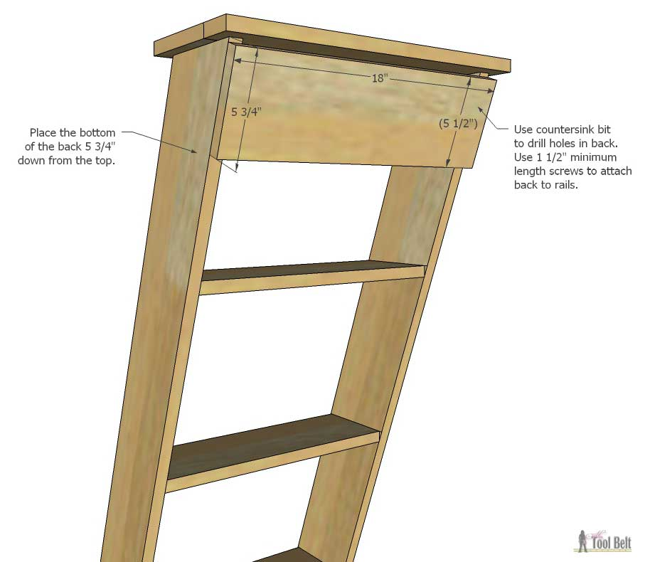 "Steps And Ladder Ideas For Tiny Houses: DIY Decorative ""Vintage"" Wood Ladder"