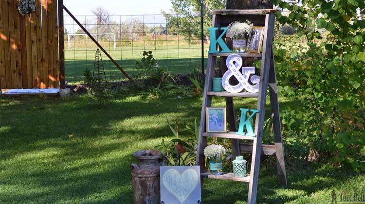 Diy Decorative Quot Vintage Quot Wood Ladder Her Tool Belt