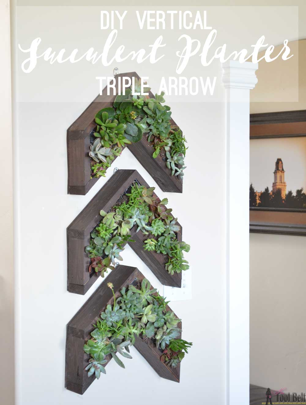 Arrow Vertical Succulent Planter Her Tool Belt