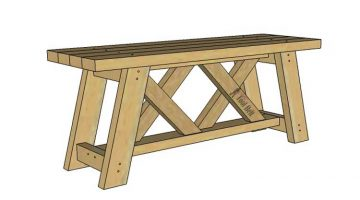 Build an Easy 2×4 Double X Bench