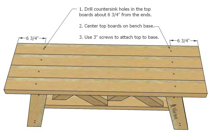 I'm making this cute bench for my porch! Build an easy double X bench from 2x4's and 2x3's with free plans.