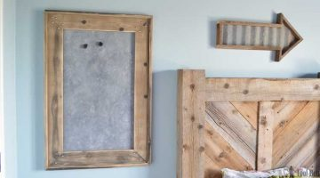 Rustic Farmhouse Magnet Board and Frame