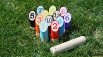 DIY Scatter-Molkky Yard Game
