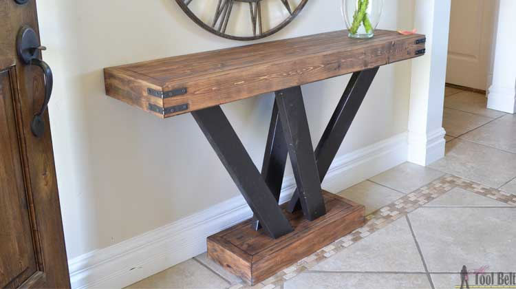 2x4 Console Table Her Tool Belt