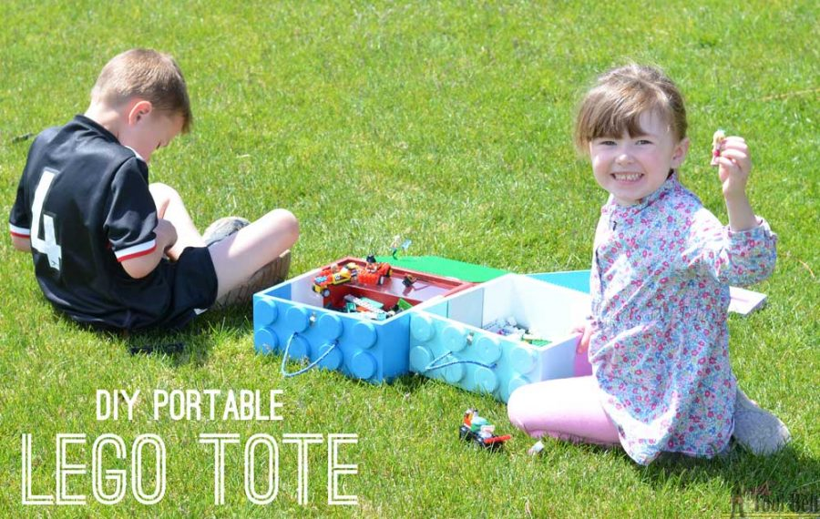 Make a DIY portable LEGO tote for hours of building fun in the car or on the go.