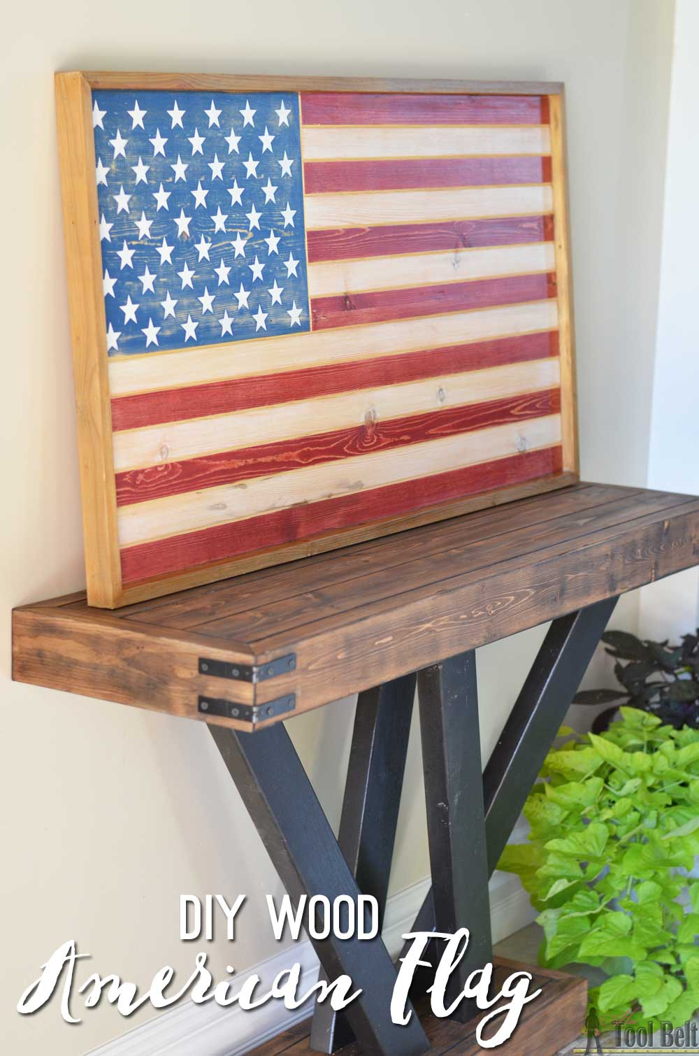 sleek american wood flag home decor sign use a trim router to add the details