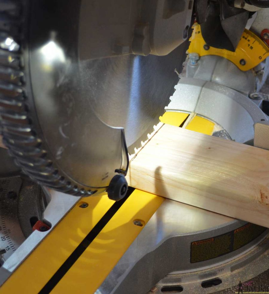 "How to use a DeWALT 12"" sliding compound miter saw. Awesome Cutline LED light feature."