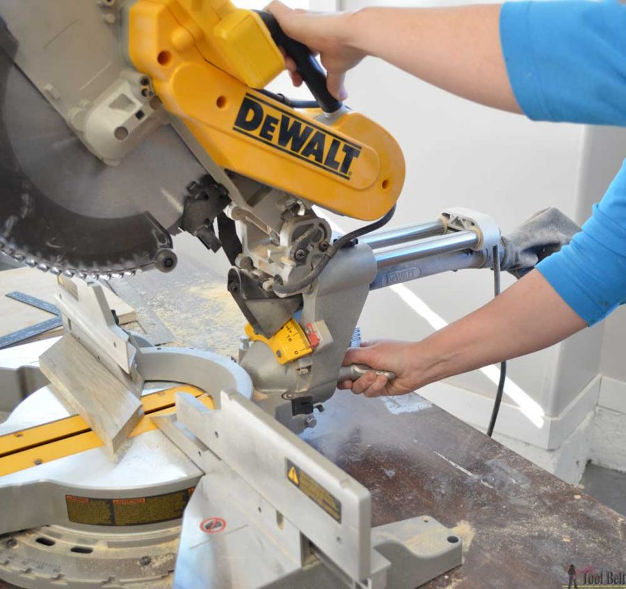 "How to use a DeWALT 12"" sliding compound miter saw. How to adjust the bevel angle."