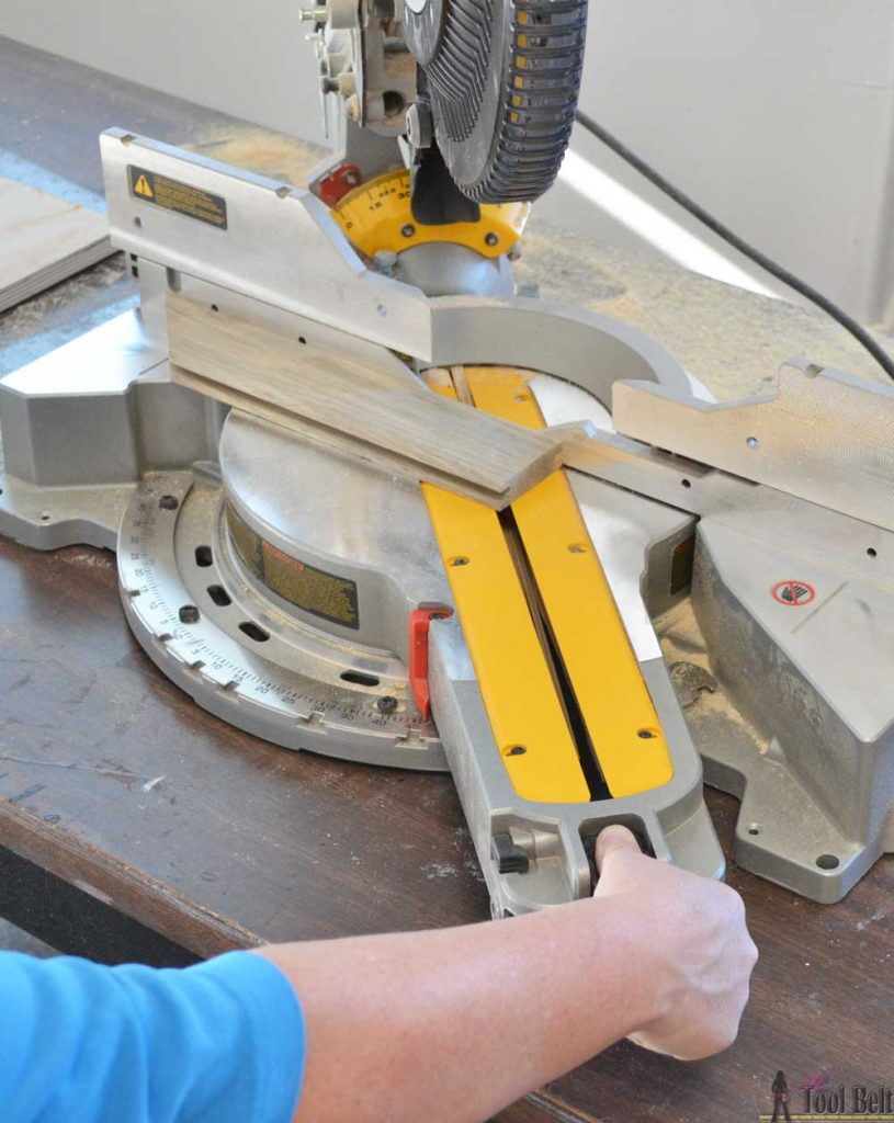 "How to use a DeWALT 12"" sliding compound miter saw. How to move the miter angle."