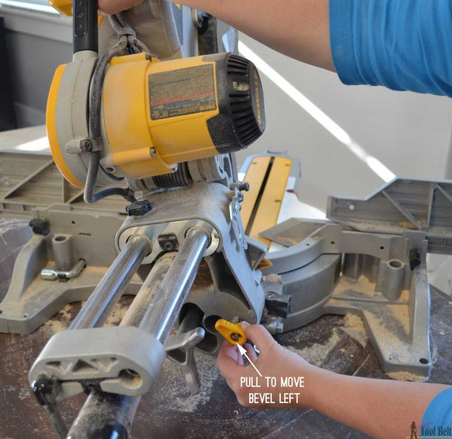 "How to use a DeWALT 12"" sliding compound miter saw. Dual bevel angle capability"