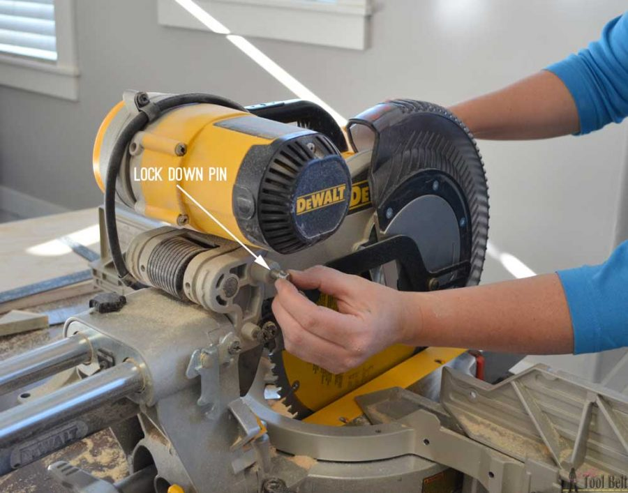 "How to use a DeWALT 12"" sliding compound miter saw."