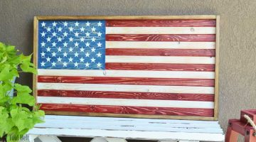 DIY Patriotic Wood Flag