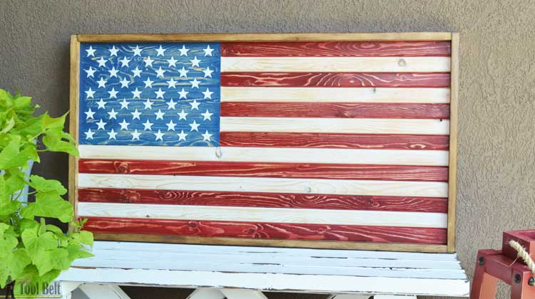Diy Patriotic Wood Flag Her Tool Belt