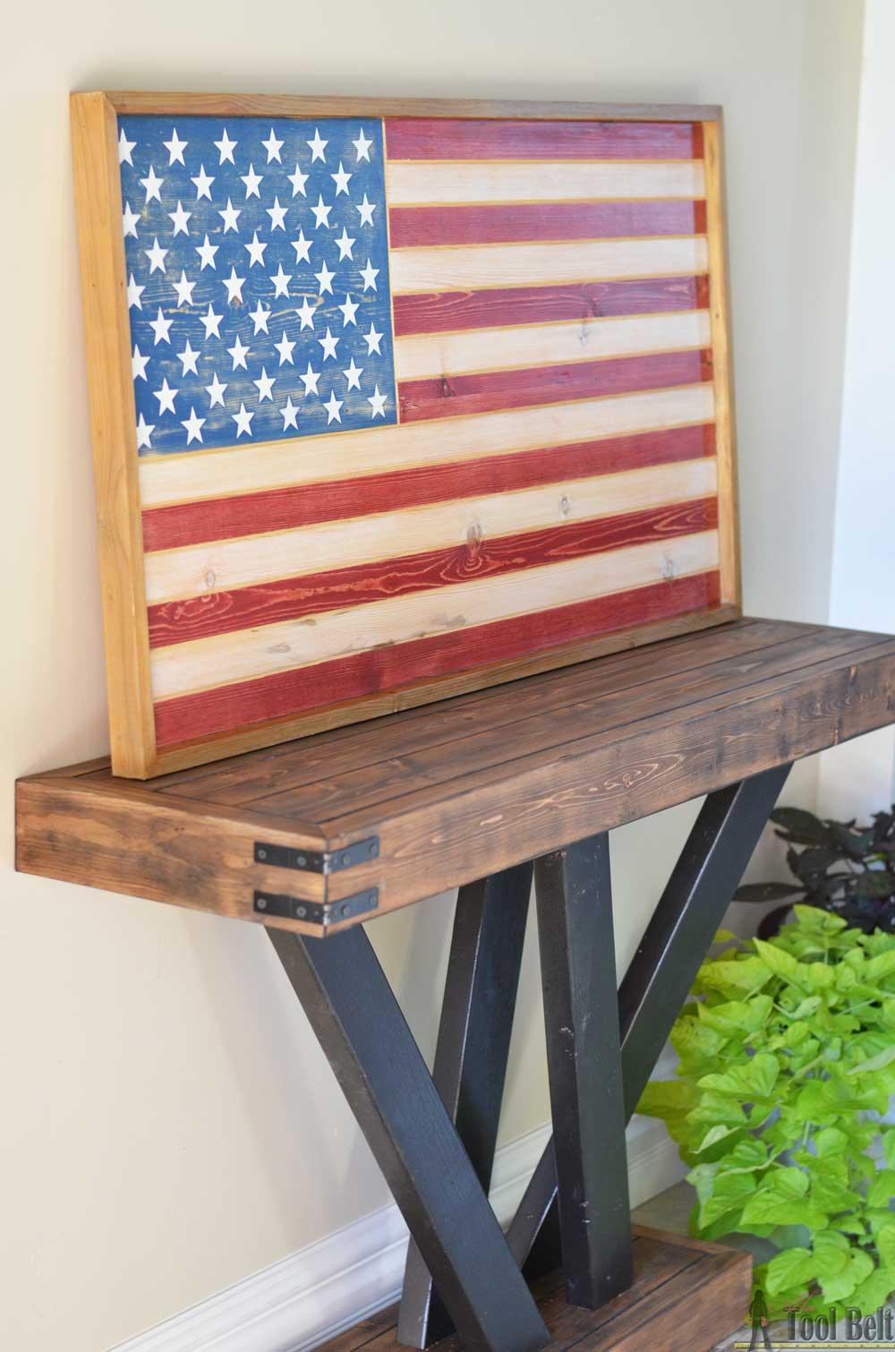 Diy Patriotic Wood Flag Her Tool Belt