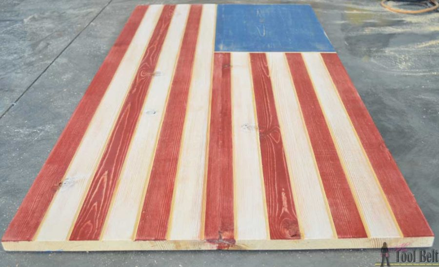Sleek American wood flag home decor sign. Use a trim router to add the details!