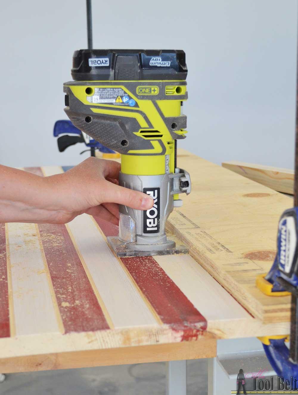 DIY Patriotic Wood Flag - Her Tool Belt