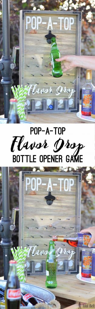 POP-A-TOP off of your favorite cold soda Let your bottle cap. DROP through the nail maze into one of the FLAVOR slots. Add flavored syrup to your soda. Enjoy!