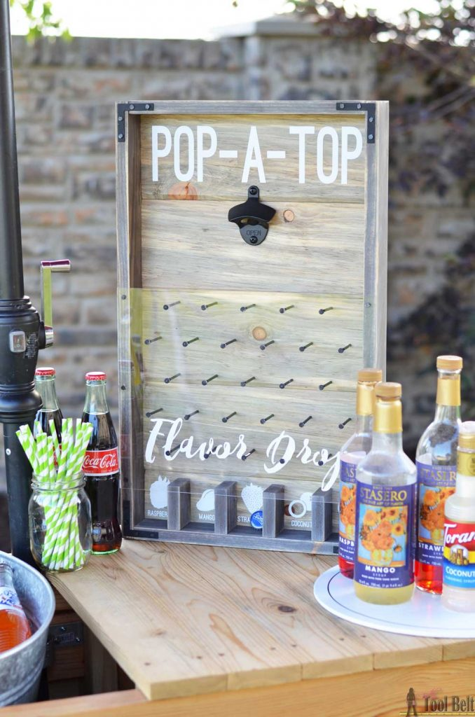 A fun and yummy addition to any summer time party, Pop-A-Top Flavor Drop bottle opener game. Open your favorite cold soda, watch where the cap drops and add the flavor! Mmmm Check out how to make it!