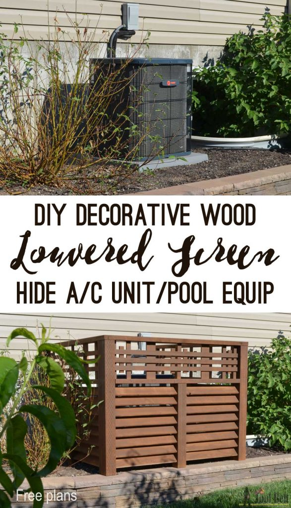 Wood Louver A/C Unit Screen - Her Tool Belt
