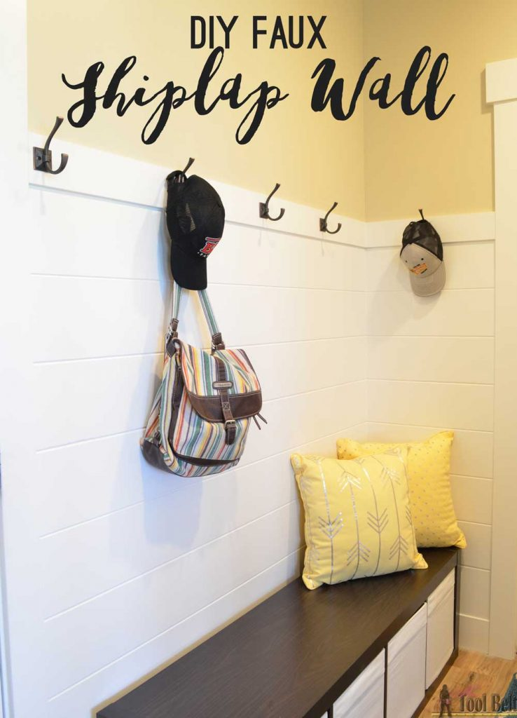 I am going to do this! Get the 'planked' wall look without all of those gaps.