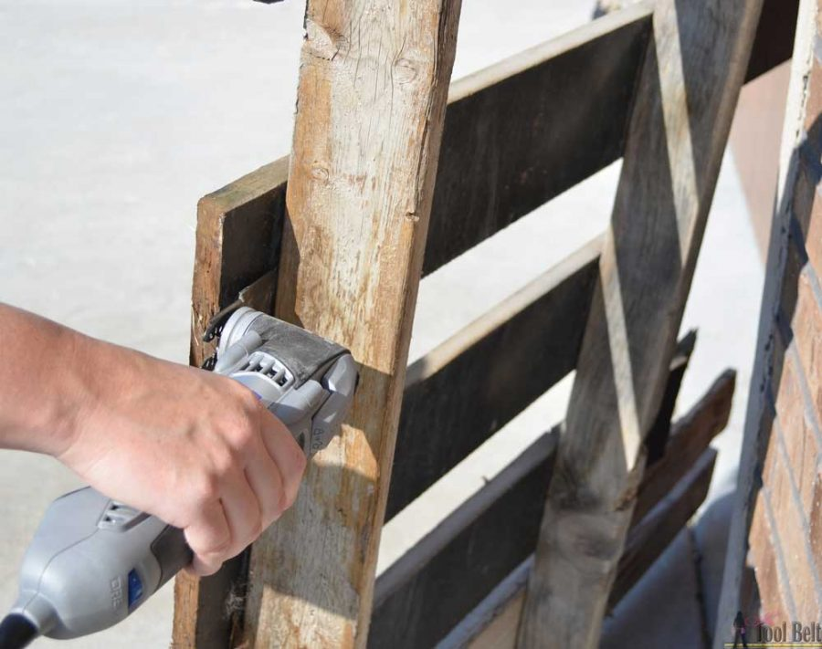 New favorite way to dismantle pallets and keep the nail holes! Love this tool.