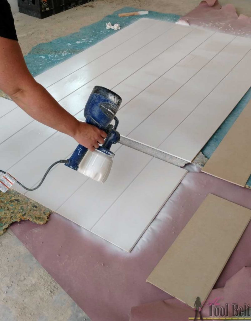 Love the look of a shiplap wall but don't want the gaps between the planks. Problem solved, route grooves in a plywood sheet for the shiplap 'planked' wall look! Set by step guide and tips.